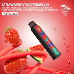 LETS VAPE TUGBOAT XXL DISPOSABLE PODS 2500 IN UAE (PUFFS) STRAWBERY WATERMELON ICE
