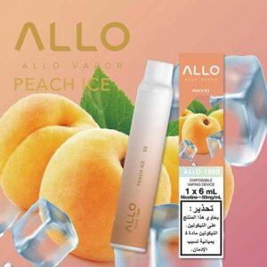 ALLO DUBAI DISPOSABLE VAPE (1500 PUFFS) peach ice