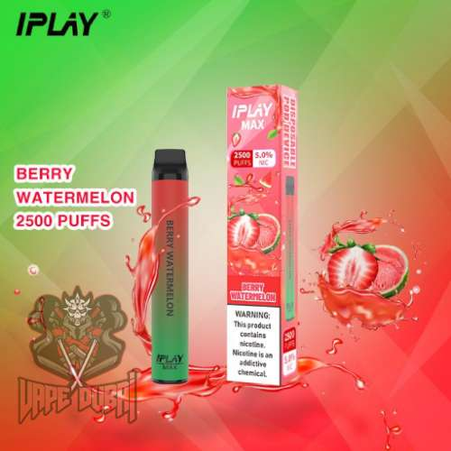 IPLAY MAX 2500 PUFFS DISPOSABLE POD IN UAE Berry Watermelon