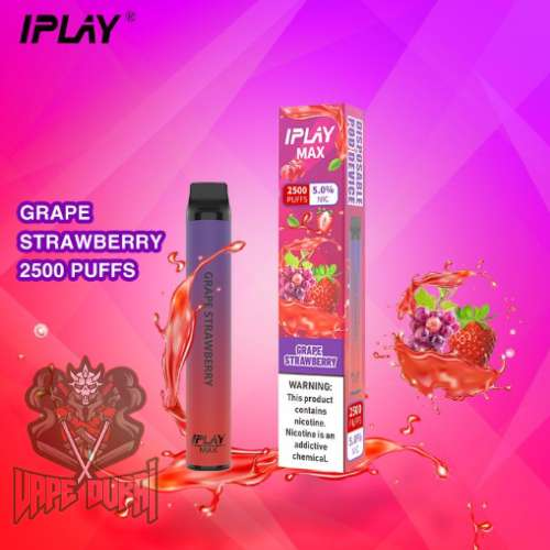 IPLAY MAX 2500 PUFFS DISPOSABLE POD IN UAE Grape Strawberry