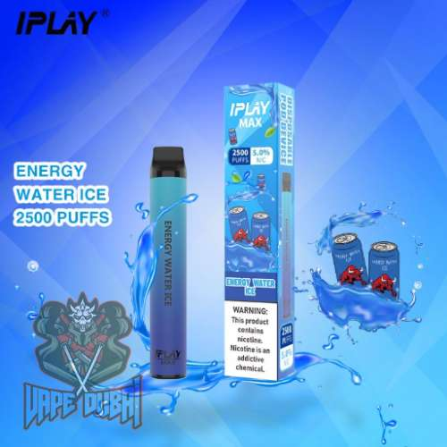 IPLAY MAX 2500 PUFFS DISPOSABLE POD IN UAE energy water ice