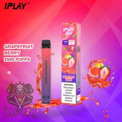 IPLAY MAX 2500 PUFFS DISPOSABLE POD IN UAE grape fruit berry