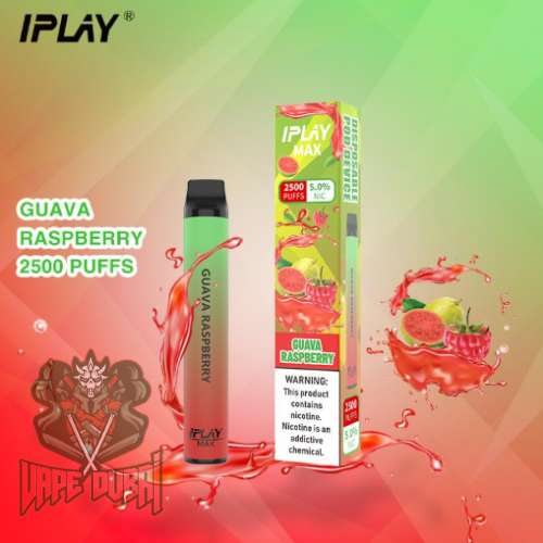 IPLAY MAX 2500 PUFFS DISPOSABLE POD IN UAE guava raspberry