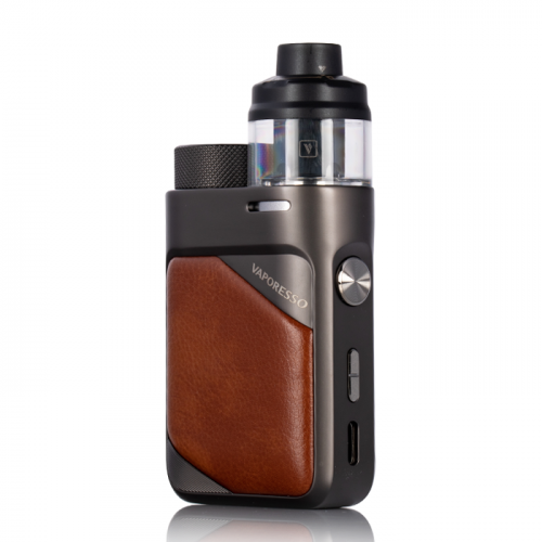 SWAG PX80 VAPORESSO POD MOD KIT IN UAE Leather Brown